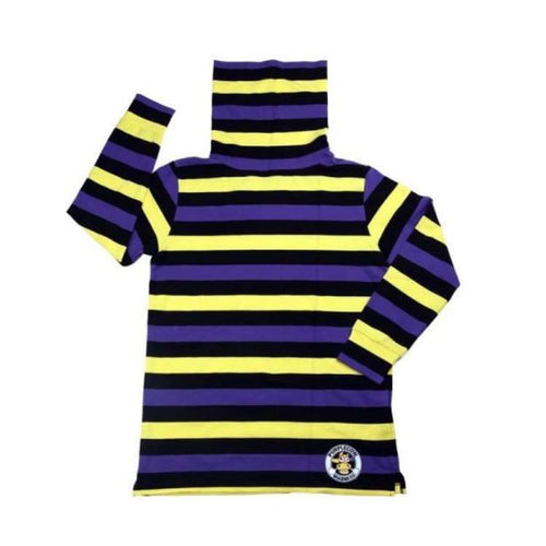 Tees / Long Sleeve: Purplecow Stripe-Neck Tall Tee - Yellow/red/green - Clothing Ice & Snow Mens On Sale Purplecow