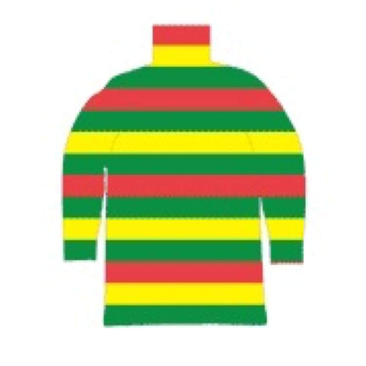 Tees / Long Sleeve: Purplecow Stripe-Neck Tall Tee - Yellow/red/green - Purplecow / Yellow/red/green / S / Clothing Ice & Snow Mens On Sale