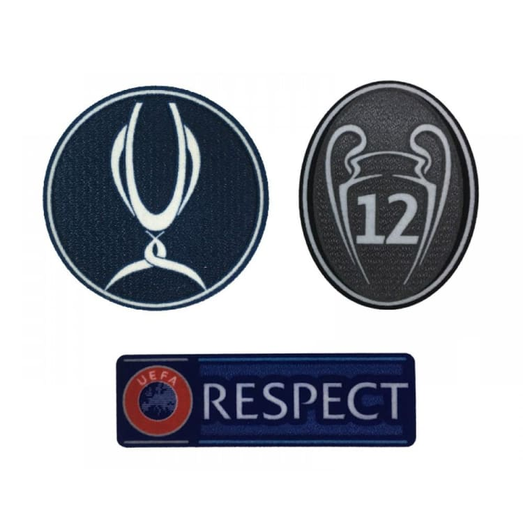 Badges: Real Madrid UEFA Super Cup 2018 Badge Combination - Real Madrid / 2018, Accessories, Badges, Land, Mens | OCHK-SFALO-OTUEFASUPER18