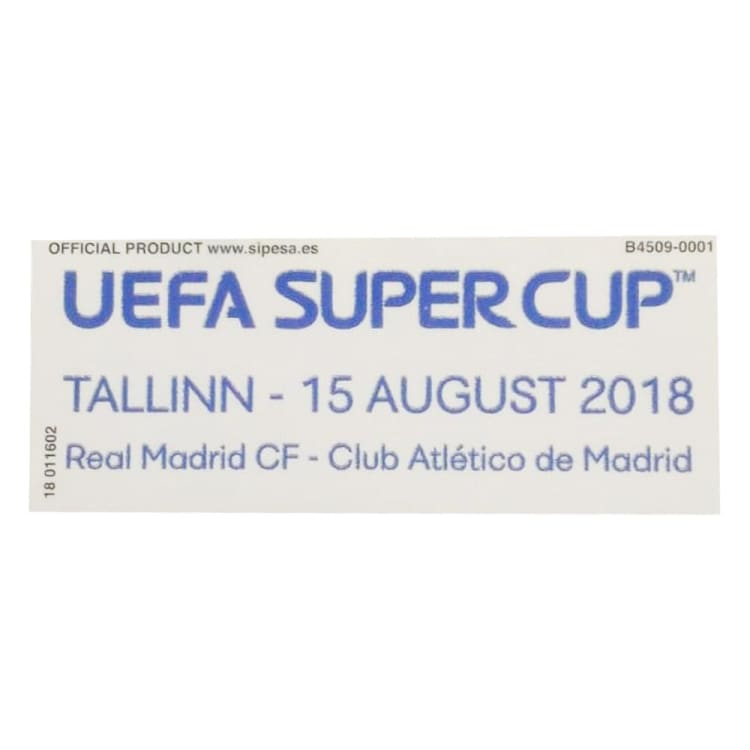 Badges: Real Madrid UEFA Super Cup 2018 Match Day Badge - Real Madrid / 2018, Accessories, Badges, Land, Mens | OCHK-SFALO-OTUEFASUPER18