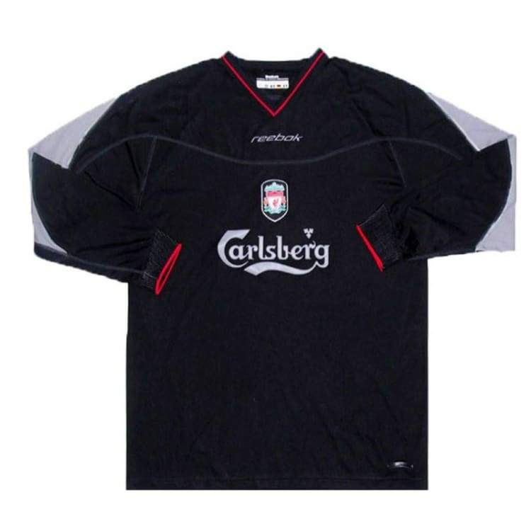 Jerseys / Soccer: Reebok Liverpool 02/03 (A) L/s - Reebok / S / Black / 0203 Away Kit Black Clothing Football | Ochk-Sfalo-Lseng03020A