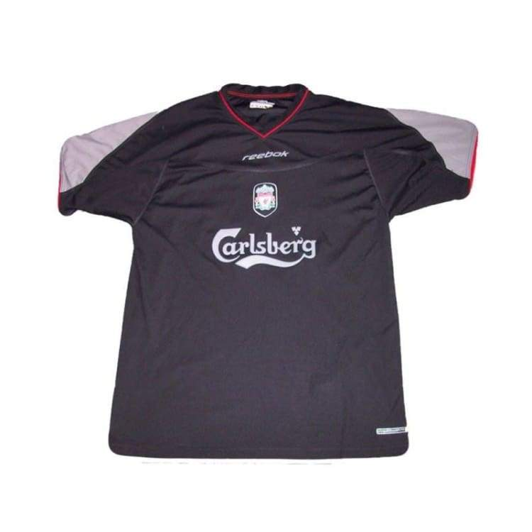 Jerseys / Soccer: Reebok Liverpool 02/04 (A) S/s - Reebok / Xl / Black / 0204 Away Kit Black Clothing Football | Ochk-Sfalo-Sseng03020A