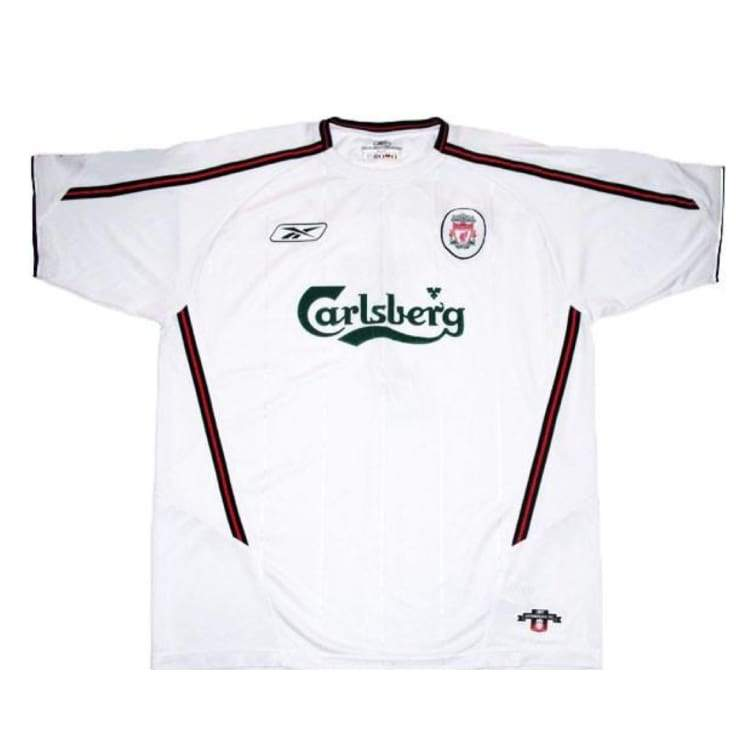 Jerseys / Soccer: Reebok Liverpool 03/04 (A) S/s - Reebok / M / White / 0304 Away Kit Clothing Football Jerseys | Ochk-Sfalo-Sseng03030A