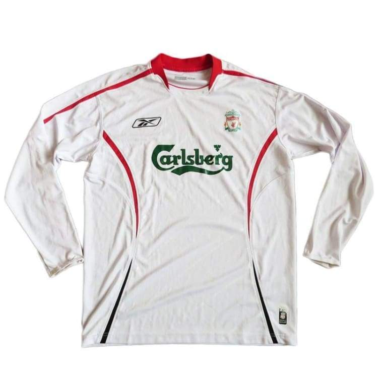 Jerseys / Soccer: Reebok Liverpool 05/06 (A) L/s - Reebok / L / White / 0506 Away Kit Clothing Football Jerseys | Ochk-Sfalo-Lseng03050A