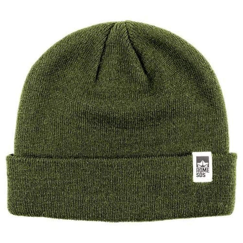 Headwear / Beanies: Rome Logo Beanie Olive 1819 [Unisex] - Rome / Free / Olive / 1819 Accessories Head & Neck Wear Headwear / Beanies Ice &