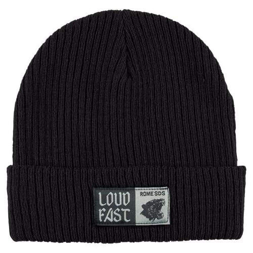 Headwear / Beanies: Rome Loud Fast Beanie Black 1819 [Unisex] - Rome / Free / Black / 1819 Accessories Black Head & Neck Wear Headwear /