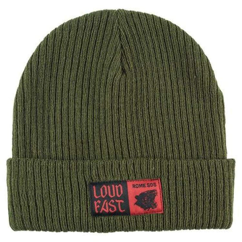 Headwear / Beanies: Rome Loud Fast Beanie Olive 1819 [Unisex] - Rome / Free / Olive / 1819 Accessories Head & Neck Wear Headwear / Beanies