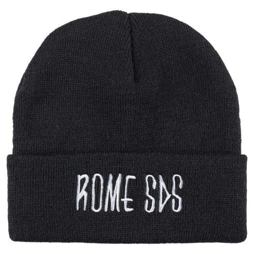 Headwear / Beanies: Rome Skelter Beanie Black 1819 [Unisex] - Rome / Free / Black / 1819 Accessories Black Head & Neck Wear Headwear /