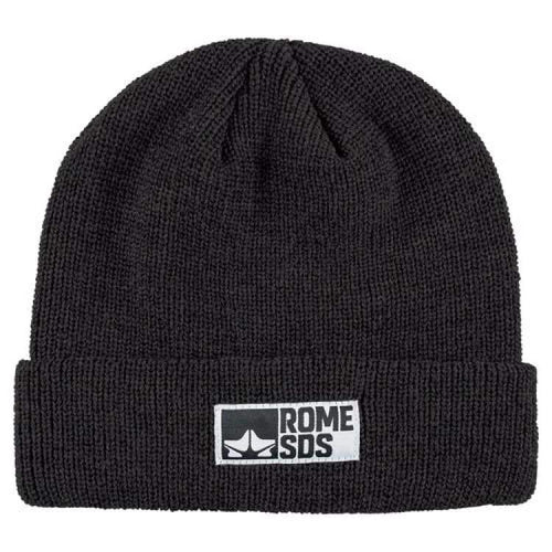 Headwear / Beanies: Rome Syndicate Beanie Black 1819 [Unisex] - Rome / Free / Black / 1819 Accessories Black Head & Neck Wear Headwear /