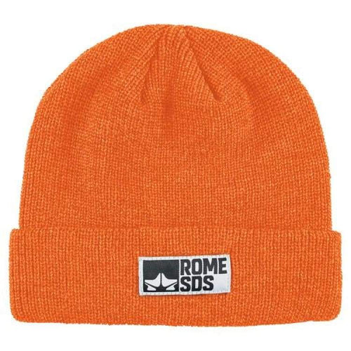 Headwear / Beanies: Rome Syndicate Beanie Safety Orange 1819 [Unisex] - Rome / Free / Orange / 1819 Accessories Head & Neck Wear Headwear /