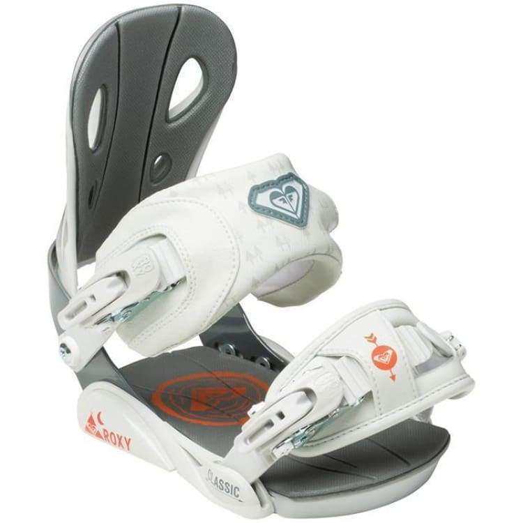 Snowboard Bindings: Roxy Classic Snowboard Binding 1516 [Womens] - Roxy / M/l / Grey / 1516 Gear Grey Ice & Snow On Sale |