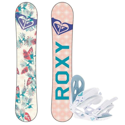 Snowboard Packages: Roxy Glow Snowboard + Snowboard Bindings 1819 [Womens] - Roxy / 146 / S/m / 1819 Gear Ice & Snow On Sale Roxy |