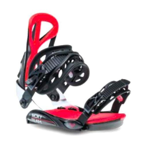 Snowboard Bindings: Roxy Team Snowboard Bindings 1819 [Womens] - Roxy / M/l / Black / 1819 Black Gear Ice & Snow On Sale |