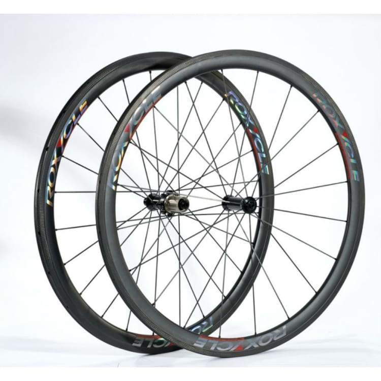 Bike Wheels: Roxycle Tubular 38Mm Carbon Wheelset - Roxycle / Bike Wheels Cycling Gear Kc Sports Service Kc Sports Services |