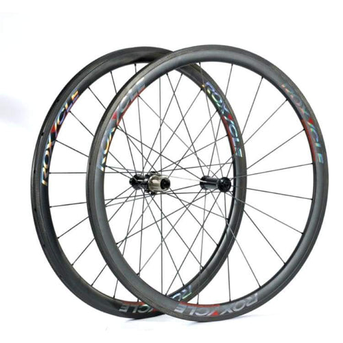 Bike Wheels: Roxycle Tubular 38Mm Carbon Wheelset - Bike Wheels Cycling Gear Kc Sports Service Kc Sports Services