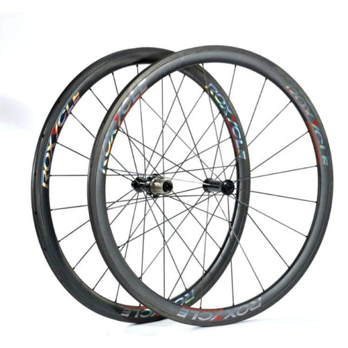Bike Wheels: Roxycle Tubular 80Mm Carbon Wheelset - Bike Wheels Cycling Kc Sports Services Roxycle