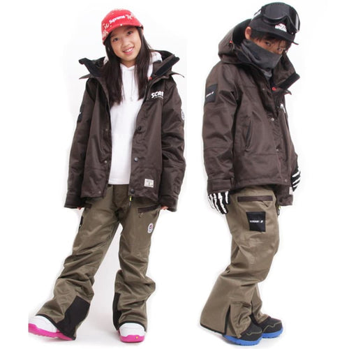 Jackets / Snow: Scream Kids Coach Snow Jacket w/Pants KD08 - Scream / S / Black / 1920 Black Clothing ICE & SNOW Jackets |
