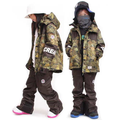 Jackets / Snow: Scream Kids Coach Snow Jacket w/Pants KD11 - Scream / S / Camo / 1920 Camo Clothing ICE & SNOW Jackets | OCJP-SCREAM-KD11-S