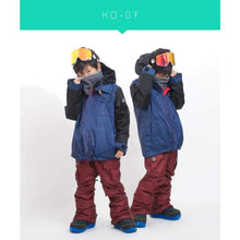 Jackets / Snow: Scream Kids Ski & Snowboard Unisex Jacket [Red]+Pants Set [Nav] [Kd-05] - Kd-07 / S / Scream / 1617 Clothing Fun Factory