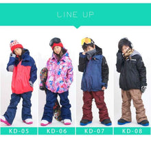 Jackets / Snow: Scream Kids Ski & Snowboard Unisex Jacket [Red]+Pants Set [Nav] [Kd-05] - 1617 Clothing Fun Factory Jackets Jackets / Snow