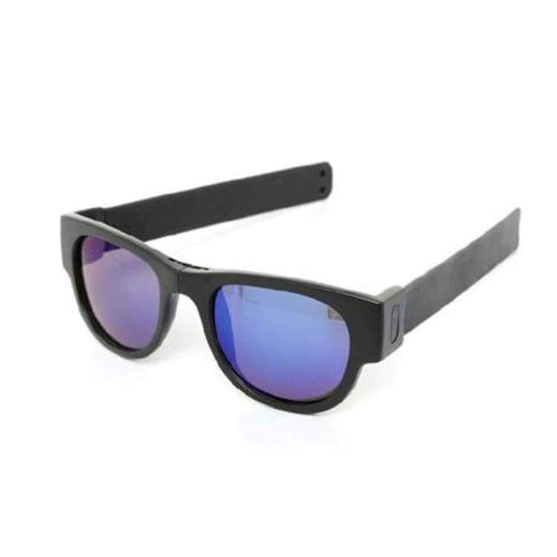 Sunglasses: Slapsee Pro Folding Sunglasses - Black Ice [ Polarised Lenses ] - Slapsee / Black Ice / Black Ice Cycling Eyewear Ice & Snow
