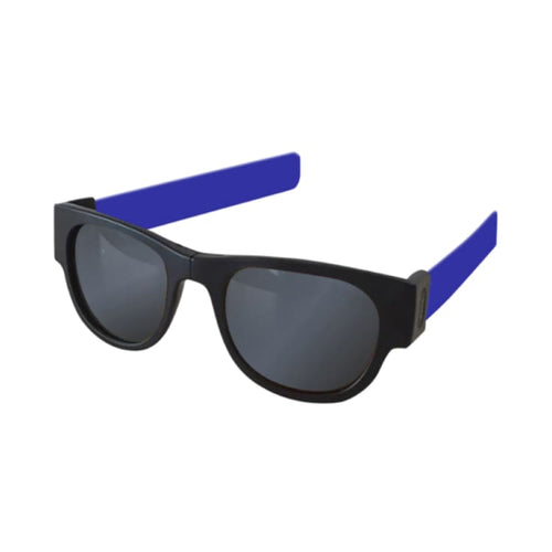 Sunglasses: Slapsee Pro Folding Sunglasses - Blue Steel [ Polarised Lenses ] - Slapsee / Blue Steel / Blue Steel Cycling Eyewear Ice & Snow