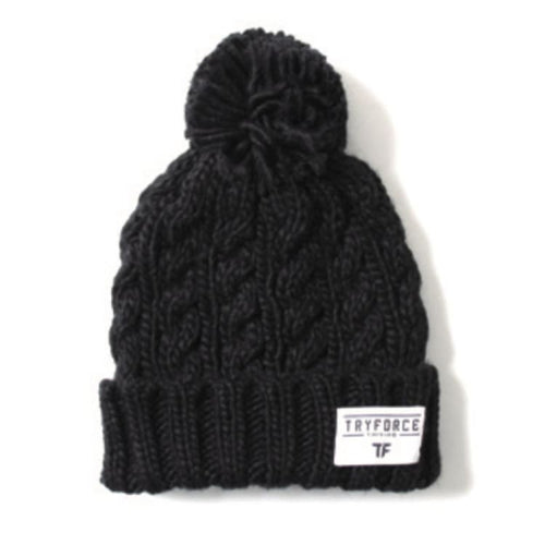 Headwear / Beanies: TF PONPON SOLID BEANIE-BLACK - TRYFORCE / Free / Black / 1920 Accessories Black BRUINS Headwear |