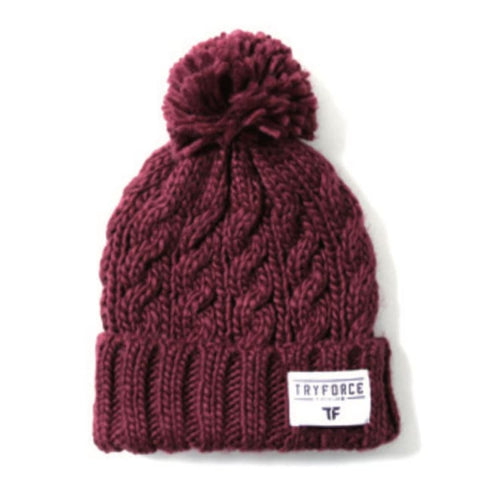 Headwear / Beanies: TF PONPON SOLID BEANIE-BURGUNDY - TRYFORCE / Free / Burgundy / 1920 Accessories BRUINS Burgundy Headwear |