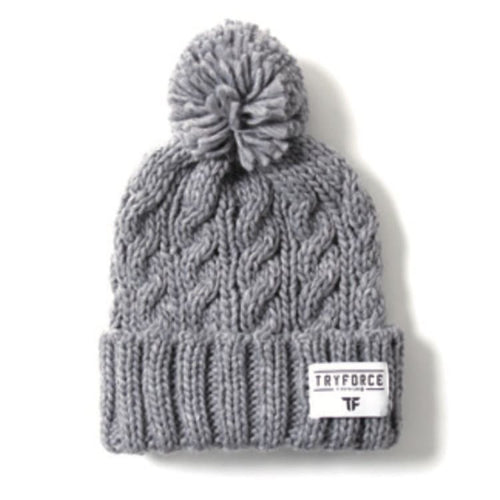 Headwear / Beanies: TF PONPON SOLID BEANIE-GRAY - TRYFORCE / Free / Gray / 1920 Accessories BRUINS Gray Headwear | OCJP-TRYFORCE-19TRF21-GRY