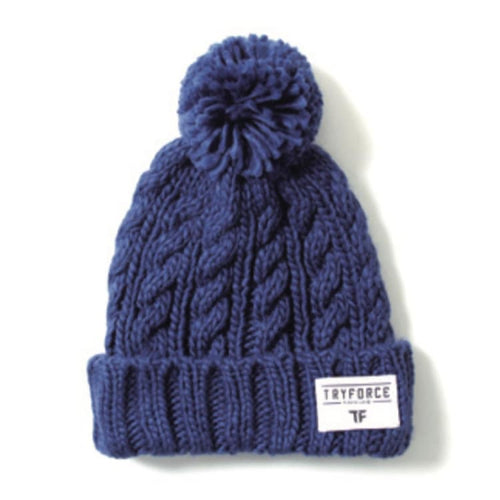 Headwear / Beanies: TF PONPON SOLID BEANIE-NAVY - TRYFORCE / Free / Navy / 1920 Accessories BRUINS Headwear Headwear / Beanies |
