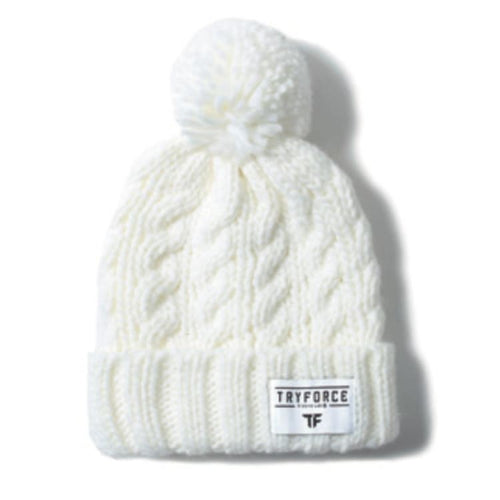 Headwear / Beanies: TF PONPON SOLID BEANIE-WHITE - TRYFORCE / Free / White / 1920 Accessories BRUINS Headwear Headwear / Beanies |