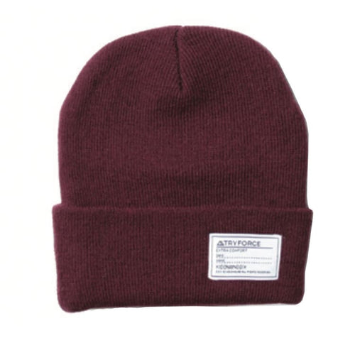Headwear / Beanies: TF WATCH SOLID BEANIE-BURGUNDY - TRYFORCE / Free / Burgundy / 1920 Accessories BRUINS Burgundy Headwear |