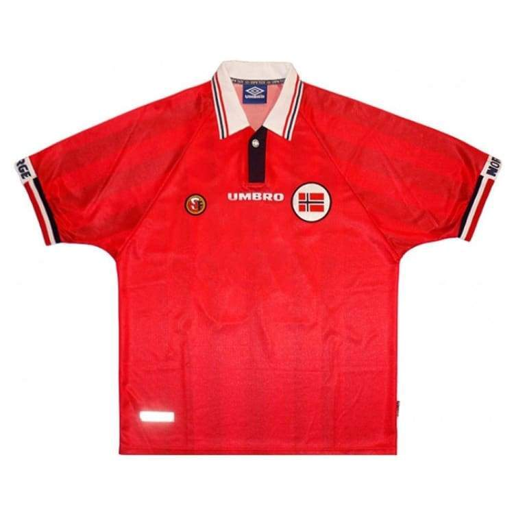 Jerseys / Soccer: Umbro 1998 Norway (H) S/s Jersey - Umbro / M / Red / 1998 Clothing Home Kit Jerseys Jerseys / Soccer |