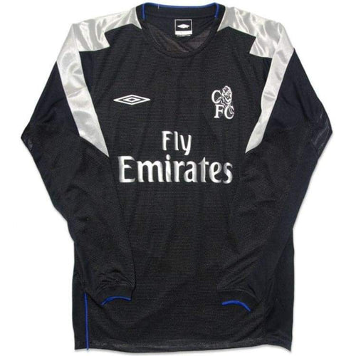 Jerseys / Soccer: Umbro Chelsea 04/05 (A) L/s 11734382 - Umbro / S / Black / 0405 Away Kit Black Chelsea Clothing | Ochk-Sfalo-11734382-1