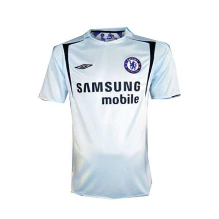 Jerseys / Soccer: Umbro Chelsea 05/06 (A) S/s Jersey 735718 - Umbro / S / White / 0506 Away Kit Chelsea Clothing Football |