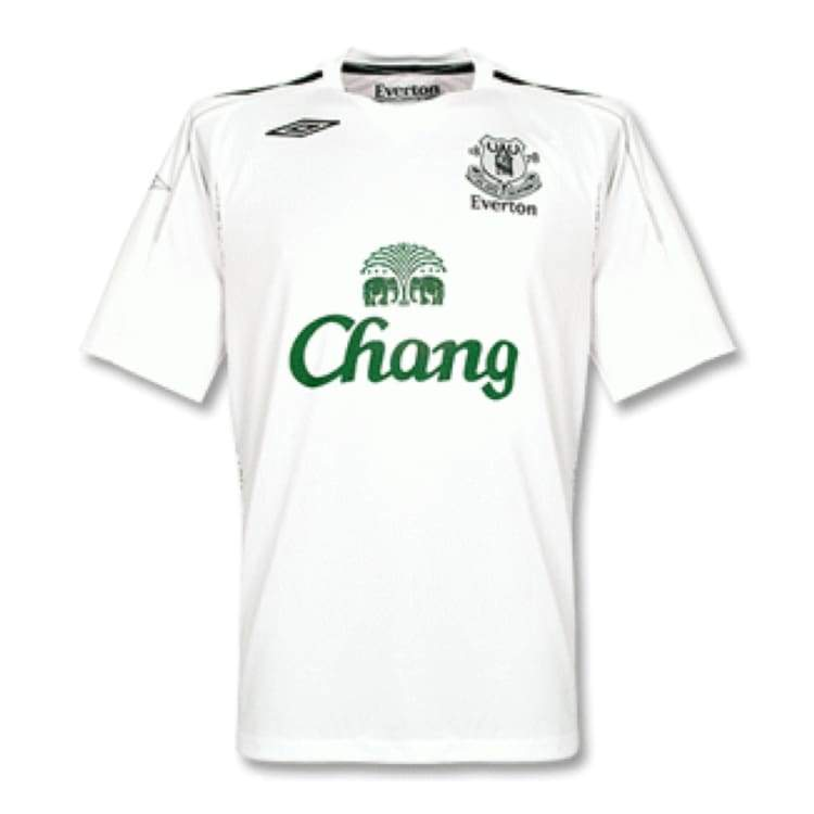 Jerseys / Soccer: Umbro Everton 07/08 (A) S/s - Umbro / Xl / White / 0708 Away Kit Clothing Everton Football | Ochk-Sfalo-Sseng04070A