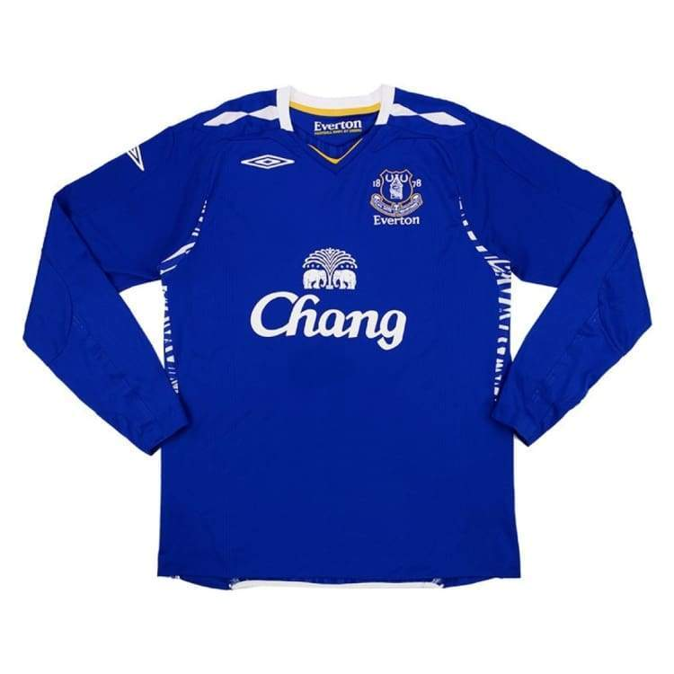 Jerseys / Soccer: Umbro Everton 07/08 (H) L/s - Umbro / M / Blue / 0708 Blue Clothing Everton Football | Ochk-Sfalo-Lseng04070H-1