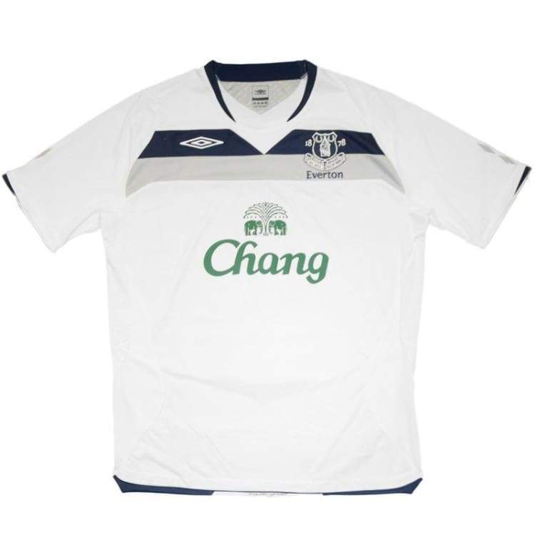 Jerseys / Soccer: Umbro Everton 08/09 (A) S/s 18510108 - Umbro / L / White / 0809 Away Kit Clothing Everton Football |