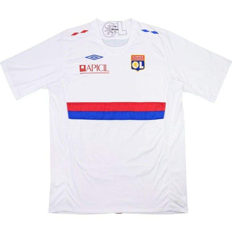 Jerseys / Soccer: Umbro Lyon 09/10 (H) S/s - Umbro / S / White / 0910 Clothing Football Home Kit Jerseys | Ochk-Sfalo-Ssfra08090H-1
