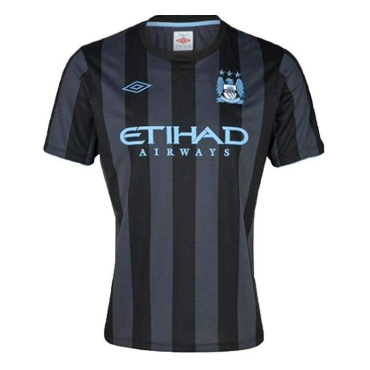 Jerseys / Soccer: Umbro Manchester City 12/13 (3Rd) Euro S/s 74156U - Umbro / S / Gun Metal/light Blue / 1213 Clothing Football Gun