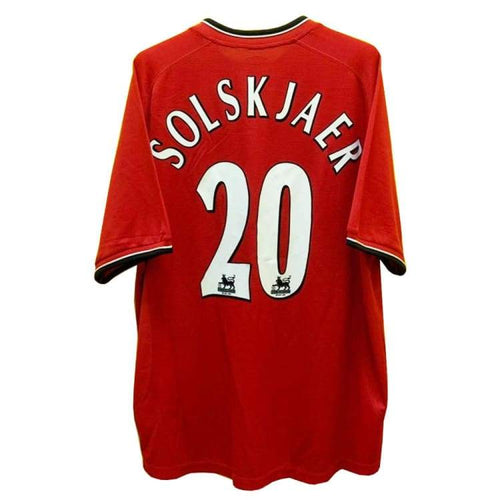 Jerseys / Soccer: Umbro Manchester United 00/01 (Home) S/s Jersey [#20 Solskjaer Nameset] - Umbro / Xl / Red / 0001 Clothing Football Home