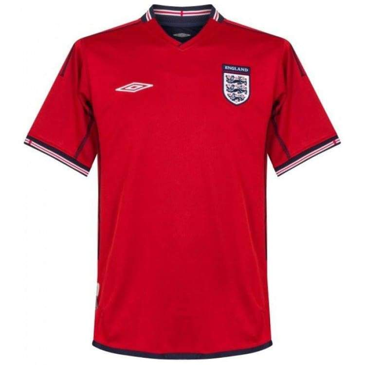 Jerseys / Soccer: Umbro National Team 2002 England (A) S/s Jersey - M / Red / Umbro / 2002 Clothing England Football Jerseys |