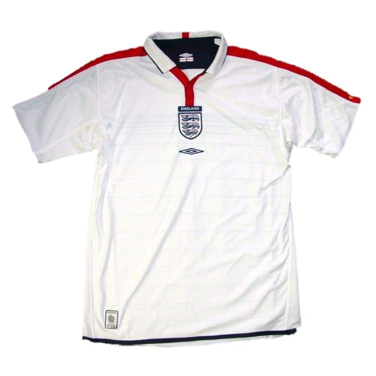 Jerseys / Soccer: Umbro National Team 2003 England (H) S/s - Xl / White / Umbro / 2003 Clothing England Football Home Kit |