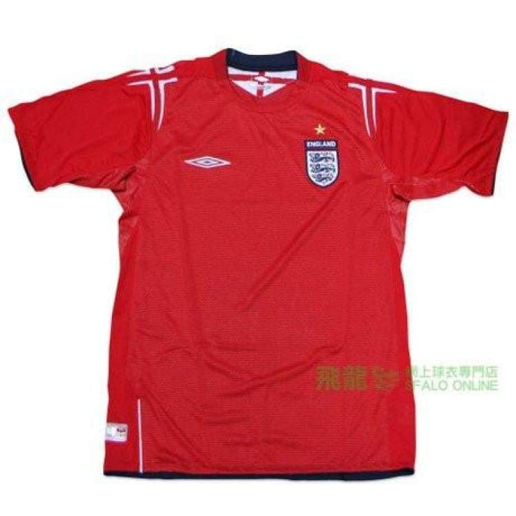 Jerseys / Soccer: Umbro National Team 2004 England (A) S/s Jersey - S / Red / Umbro / 2004 Clothing England Football Jerseys |