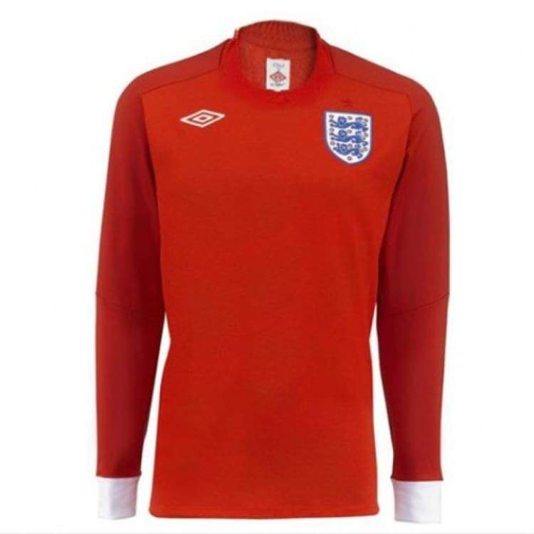 Jerseys / Soccer: Umbro National Team 2010 England (A) L/s Jersey - 40 (M) / Red / Umbro / 2010 Away Kit Clothing England Football |