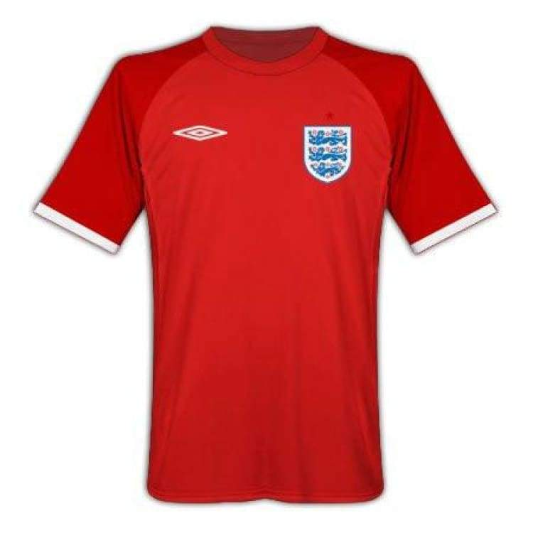 Jerseys / Soccer: Umbro National Team 2010 England (A) S/s Jersey - 42 (L) / White / Umbro / 2010 Away Kit Clothing England Football |