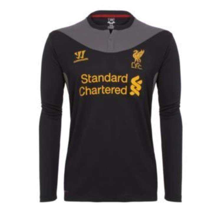 Jerseys / Soccer: Warrior Liverpool 12/13 (A) L/s Wstm205 - Warrior / S / Black / 1213 Away Kit Black Clothing Football |