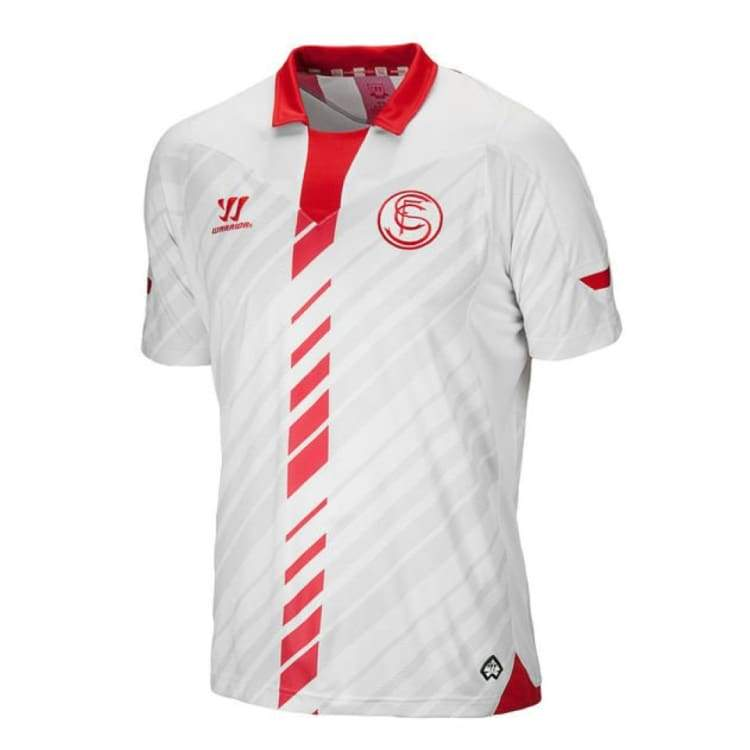 Jerseys / Soccer: Warrior Sevilla 13/14 (H) S/s Wstm380 - M / White/ Red / Warrior / 1314 Clothing Football Jerseys Jerseys / Soccer |