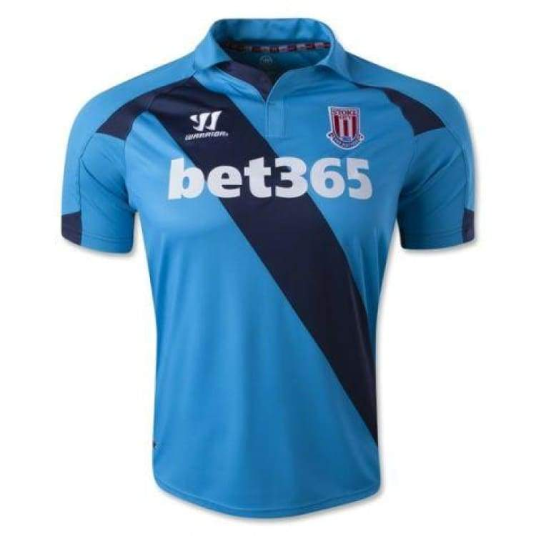 Jerseys / Soccer: Warrior Stoke City Fc 14/15 (A) S/s Wstm420 - Warrior / S / Blue / 1415 Away Kit Blue Clothing Football |