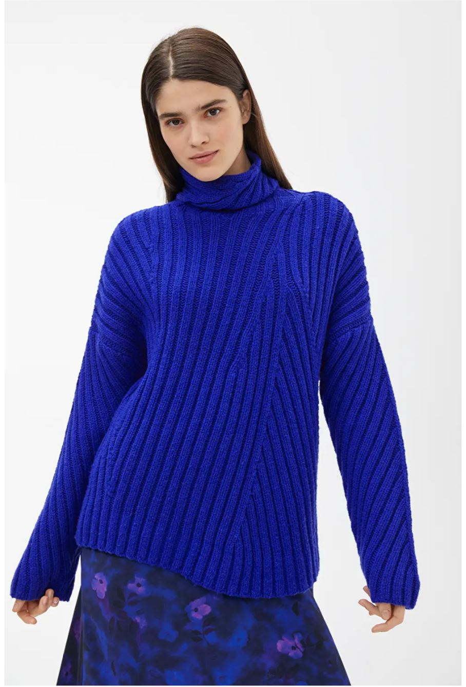 Ribbed Wool Nylon Jumper